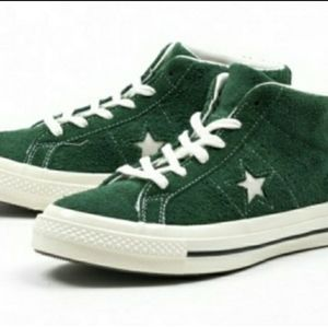 Converse One Star Mid Mens Skate Shoe Shadow Green